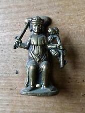 Vintage Brass Door Knocker Male Figure King Small Antique