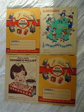 lot 4 Protège-cahiers anciens publicitaires années 1950-60 en  état neuf -lot 4