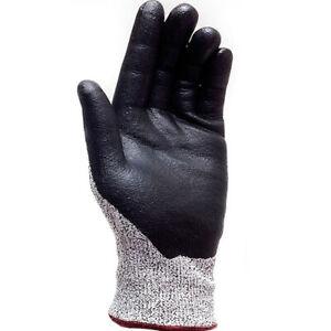 3M EN338 Level-5 Safety Gloves Cut Resistant Latex Foam HPPE Gloves(2 Pairs) L i
