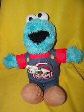 Sesame Street Cookie Monster Talking Farmer w/ Cow Overalls Fisher Price Mattel