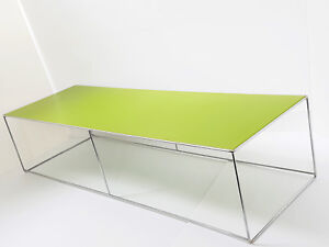 Side Table Rectangular Apple Green Vintage 70S Years 70 Space Age 70'S