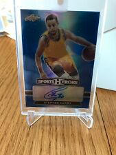 STEPHEN CURRY 2018 Leaf Metal Sports Heroes Blue Refractor Autograph SSP #1/2