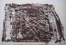 TAPIES ANTONI LITHOGRAPHIE DE MONOTYPE 1974 DERRIÈRE LE MIROIR N°210 LITHOGRAPH