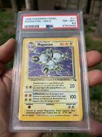 Pokemon Card Magneton Rare Holo PSA 8.5 Mint Fossil Set #11/62 1999