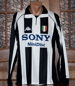 Juventus 1997/98 Long Sleeve Champions League Home Football Shirt