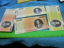 Lot of 4 different Poleconomy money.
