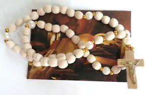 Wooden Prayer Rope 50 Knots Rosary Beads with a Cross, Różaniec Деревян
