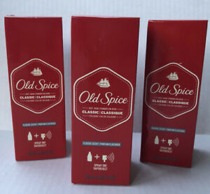 (3) Old Spice Classic Scent Cologne Spray For Men 4.25oz