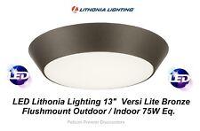 "LED Lithonia Lighting 13"" Versi Lite Bronze Flushmount Outdoor / Indoor 75W Eq."