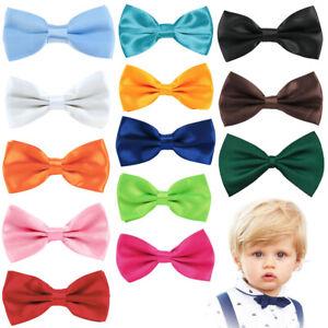 Baby Bow Tie Adjustable Satin Pre Tied Necktie Babies Neck Party Casual Wedding