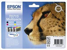Original Epson Genuine Cheetah Ink cartridges set T0711 T0712 T0713 T0714 No Box