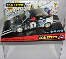 "SCALEXTRIC 6062 FORD FOCUS WRC #1 ""EFECTO NIEVE"" IRIDIUM  BEN SULAYEM-MORGAN  MB"