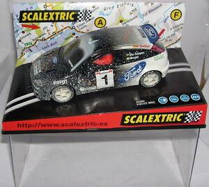 "Scalextric 6062 Ford Focus WRC #1 "" Effect Snow "" Iridium Ben Sulayem-Morgan MB"