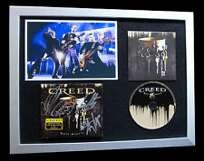 CREED+ALTER BRIDGE+SIGNED+FRAMED+CIRCLE+ARMS=100% AUTHENTIC+EXPRESS GLOBAL SHIP