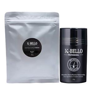 Poudre de cheveux densifiante naturelle K-BELLO calvitie alopécie racines barbe