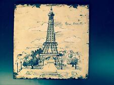 Eisen Schild Paris Frankreich Wandschild Vintage für Sammler aus alten Beständen