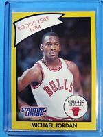 Michael Jordan 1990 Starting Lineup Kenner Rookie Year 1984 SLU Card CLEAN 🔥