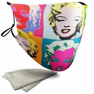 Marilyn Diptych Painting - Adult Face Masks - 2 Filters Included
