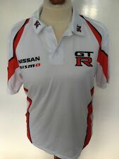 Nissan NISMO GT-R Mens white Polo Shirt Size M New