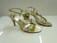 Zodiaco Womens Gold Slingback Sandal Heel Shoes - UK 7 / EU 40 - (9395P)