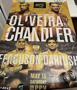 UFC 262 Autographed SBC Poster, Michael Chandler, Oliveira, Tony Ferguson, #/125
