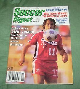 Soccer Digest Magazine November1984 Steve Zungul Golden Bay EarthQuakes Cover