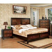 Furniture of America Delia 2 Piece Queen  Panel Bedroom Set in Aciacia