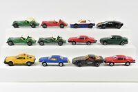 Majorette Lot of 12 Cars Thunderbird Morgan Fiero Lamborghini Mazda RX7 Lancia