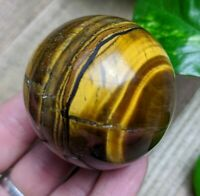 46mm GOLD TIGER'S EYE Sphere Crystal Reiki Charged Healing 5.3oz *Read Below*