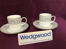 Wedgwood Dolphins R4652 set 2 Coffee Cans and saucers - Beautiful!