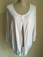 F&f Women Cardigan Thin White Knit Plus Size 20 (9)