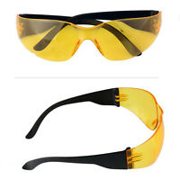Safety Glasses Work Spectacles Specs Sports Eye Protective Yellow Lens