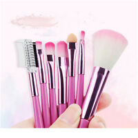 7pcs Rayon Hair Professional Powder Blush Beauty Cosmetic Brush With Bag Shan