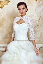NEW Ivory Lace Bolero Shrug Wedding Jacket 3/4 Sleeve - 14068