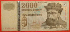 """FORINT 2000, Ungheria, 2013, km #198e, """"ca"""" prefisso"""