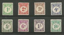 GILBERT & ELLIS ISLANDS SGD1-8 THE 1940 GVI POSTAGE DUE SET OF 8 MINT CAT £180
