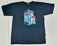 Tee Fury Back To The Future Dr. Who L Large Biff Has The Phone Box Black BTTF A1