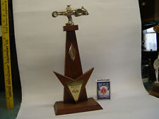 1966 Bristol Inernational Dragway TN vintage race trophy with old dragster top