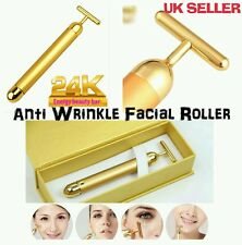 Derma Roller 24k Gold Facial Skin Lifting Massage Wrinkle Skincare BEAUTY BAR