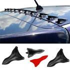 Carbon Fiber Car Bumper Roof Spoiler Shark Fin Decor Sticker Parts Accessories