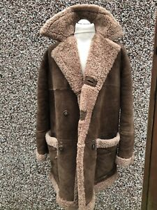 VINTAGE DEL BOY SHEEPSKIN  COAT SIZE M