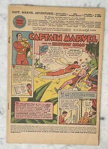 CAPTAIN MARVEL ADVENTURES #112-SHAZAM-GOLDEN AGE-COVERLESS-COMPLETE FREE SHIP!!