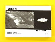 Malibu 09 2009 Chevrolet Chevy Owners Owner's Manual All Models