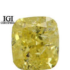 IGI CERTIFIED Natural Loose Diamond Yellow Color Cushion I1 Ct 0.56 L7701 Bkk