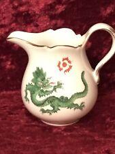 Meissen Porzellan Sahnekännchen Sahnegießer Milchkännchen 2 x Ming Drache Grün