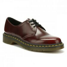 DR. MARTENS VEGAN 1461 CHERRY RED OXFORD RUB OFF SHOES 14046601