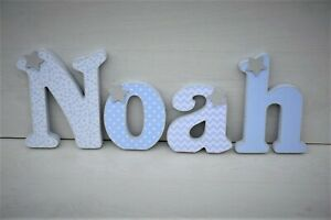 Blue wooden letters • Baby boy nursery room decor • Baby shower gifts •