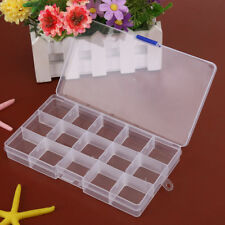 Jewelry Storage Case Box Holder Container Pills Nail Art Tips 15 Grid Organizer