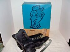 Vintage Penneys Black Ice Skates Women's w/ Original box Size 8