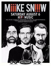 "MIKE SNOW ""M!!!KE SN!!!W H!F! MUSIC"" 2016 EUGENE CONCERT TOUR POSTER- Indie Rock"